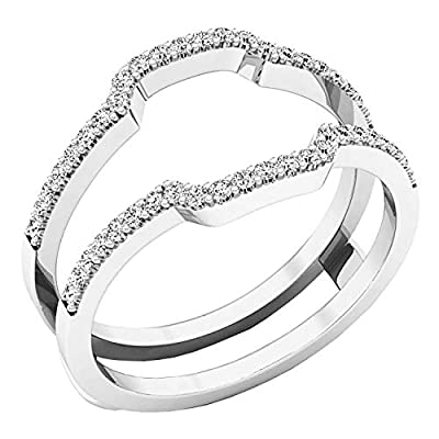 This stunning wedding band is a piece of jewel that will certainly amaze you. The gap between guards is 2.5 mm. Inner diamension is 7.8 mm. Items is smaller than what appears in photo. Photo enlarged to show detail 100% SATISFACTION GUARANTEE - All o...