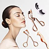 Eyelash Curler Tools Set For All Eye Shapes With Eyelash Curler, Mini Eyelash Curler, False Eyelash Extension Tweezer, Black Silicone Refill Pads
