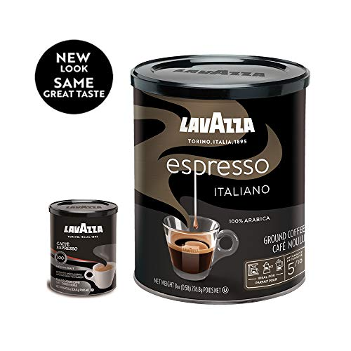 Lavazza Espresso Italiano Ground Coffee Blend, Medium Roast, 8-Ounce Cans,Pack of 4 (Packaging may vary) 12