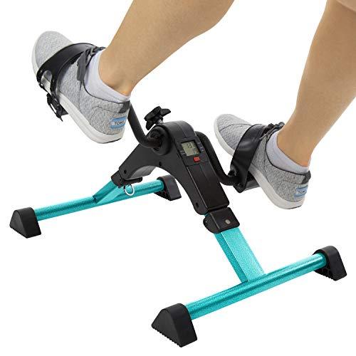 Vive Desk Cycle - Foot Pedal Exerciser - Foldable Portable Foot, Hand, Arm, Leg Exercise Pedaling Machine - Folding Mini Stationary Bike Pedaler, Fitness Rehab Gym Equipment for Seniors, Elderly, PT