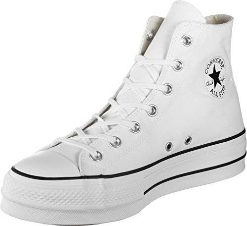 Converse Chuck Taylor All Star Lift - Hi - Blanco/Negro/Blanco Canvas