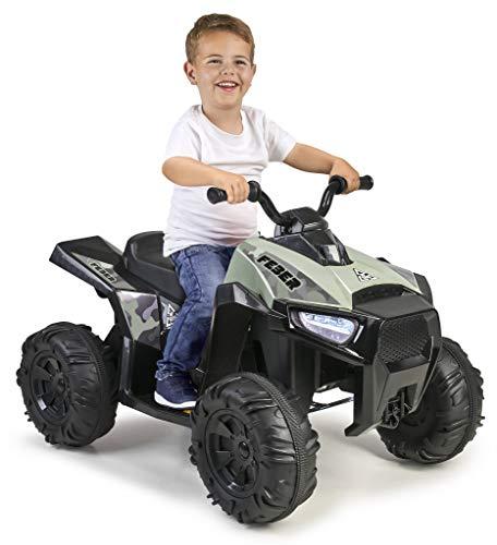 FEBER- Quad Boxer, Vehículo eléctrico a batería, 12 V, Verde...