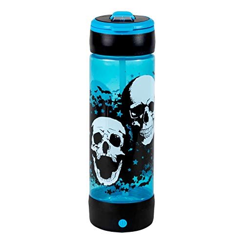 COOL GEAR POP Lights 24oz Light UP Skulls Halloween Water Bottle