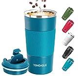 YUHENGLE Tasse de café isolée, 510ml Mug de Voyage en Acier Inoxydable de...