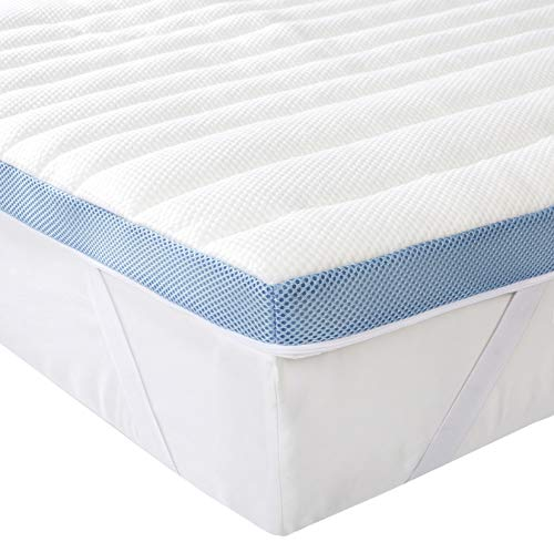 Amazon Basics 7-Zone-Air-Memory-Foam-Mattress-Topper - 135 x 190 cm