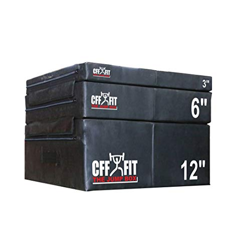 Plyo Boxes - CFF High Density Foam Plyo Box - Set of 3', 6', & 12' Plyometric Boxes | Rated for commercial and residential strength training | Cushion plyo boxes help you safely build explosive power