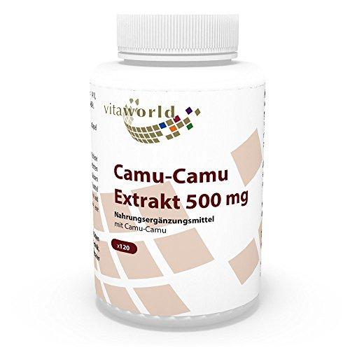 Vita World Camu Camu 500mg Vitamin C 120 Capsule Made in Germany