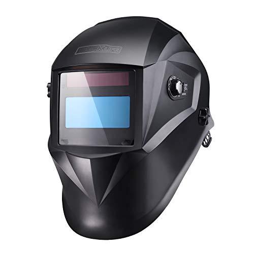 Schweißhelm, Tacklife PAH04D Automatik Schweißhelm mit 4 Sensoren, Optische Klasse: 1/1/1/1, Solar Schweißmaske (Variable Abdunklung 4/4-8/9-13), Inkl.6 austauschbare Objektive
