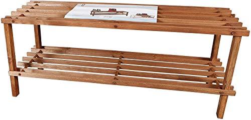 Zapatero de madera con 2 pisos 30 x 74 x 26 cm