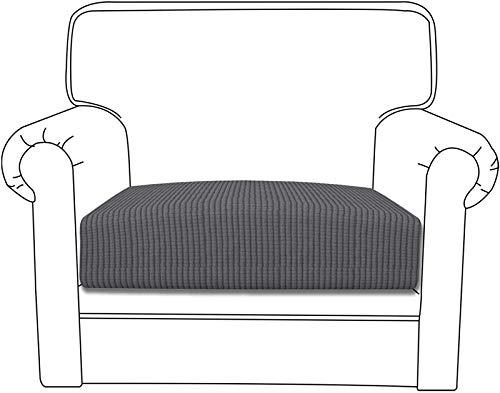 Yidaxing Copriseduta Divano Elasticizzato Jacquard Copricuscino Morbido Protezione del Cuscino Sedile del Divano Lavabile (1 Posto, Grigio Scuro)