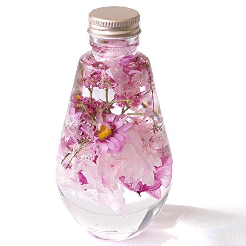【vie-gift】ハーバリウム ティアーズドロップシリーズ 雫型 植物標本 チェリー