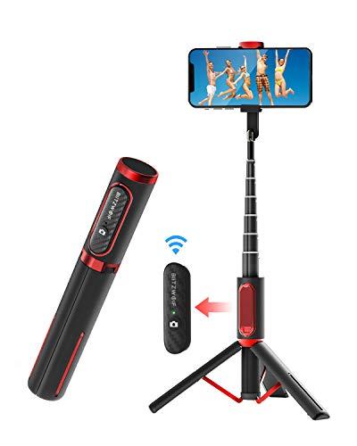 BlitzWolf Perche Selfie Bluetooth, Aluminium Léger Tout en Un Bâton...