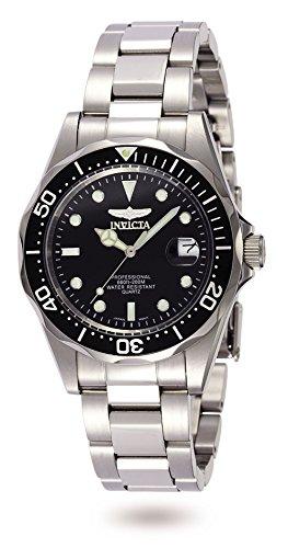 Invicta 8932 Pro Diver Unisex Uhr Edelstahl Quarz schwarzen Zifferblat