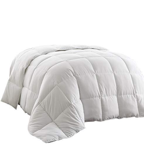 Chezmoi Collection All Season Down Alternative Comforter - Hypoallergenic Plush Microfiber Fill - Box Stitch Quilted - Duvet Insert with Corner Tabs (Full/Queen, White)