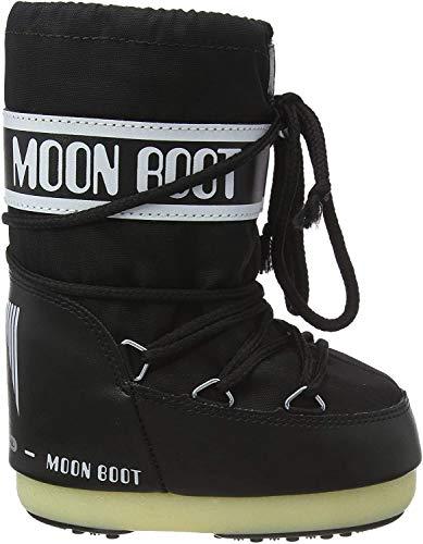 Moon Boot 140044, Stivali Invernali Unisex, Materiale suola: Gomma, Nero (Nero), 42-44