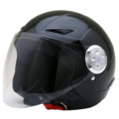 ネオライダース (NEO-RIDERS) SY-0 キッズ用 シールド付 ジェット ヘルメット フリーサイズ 56cm未満 SG/PSC SY-0 (ブラック)