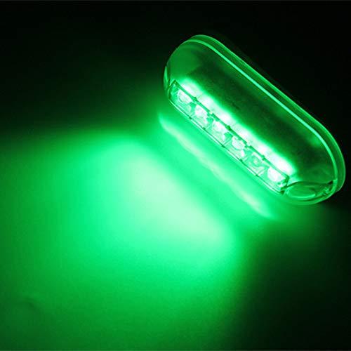 Navigationslichter für Boote, ZONCENG 12V 6 LED Marine Bootslicht Wasserdichte Nachtlampe Unterwasserlandschaft Lichter Licht segeln für Marine Boot Zubehör Wasserdicht (Grün)