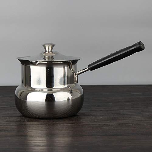 Casseruole in acciaio inox pentola per minestra da cucina pentole cucina fornellomini brewing caffettiera integratore alimentare per bambini porridge pentola piccola @ 500_ML (8cm)