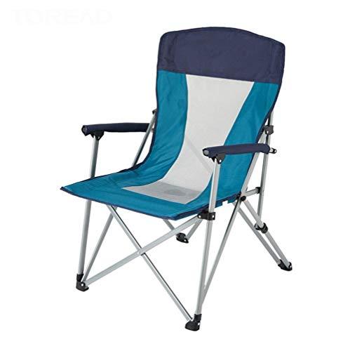 Camping Sedia pieghevole imbottita hard Poltrona schienale alto Prato sedia ergonomica Heavy Duty Con Heavy Duty Folding Arm Chair Con Comfotable piegata all'indietro, for il campo, pesca, escursionis