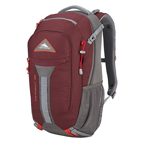 High Sierra 104206-5742 Pathway Internal Frame Hiking Pack, Cranberry/Slate/Redrock, 30L