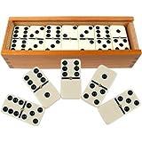 liam access Jeu de Dominos Double Six 28 pièces avec Boite refermable en...