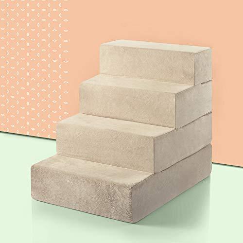 Zinus 4 Step Comfort Pet Stairs/Pet Ramp/Pet...