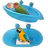 2 Pcs Baignoire Perroquet Oiseau Baignoire avec Miroir Bol Bassin...