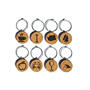 Made from Cork with Engraved Design Set of 8 Charms Per Purchase - so you'll always know exactly which glass is yours Celebrate your unique style with these cute wine charms Soft Material - No longer worry about damaging your wine glasses Set comes w...