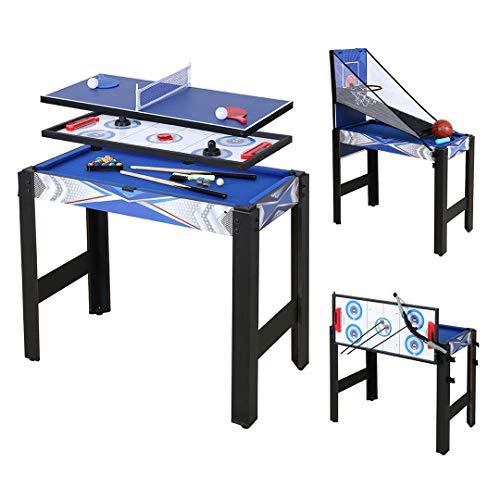homelikesport 5 in 1 Tavolo da Gioco Multi per Hockey, Biliardo, Pallacanestro, Ping-Pong, Arco