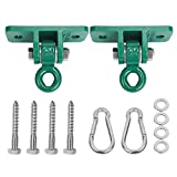 BETOOLL 2400 lb Capacity Heavy Duty Swing Hangers for Wooden Sets Playground Porch Indoor Outdoor & Hanging Snap Hooks Green Set of 2