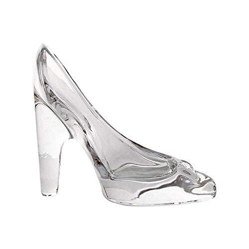 Minsa 1 pieza de cristal de zapatos de tacón alto con colgante transparente de cristal de zapatilla de princesa sentimientos ornamentos para decoración de bodas y fiestas.
