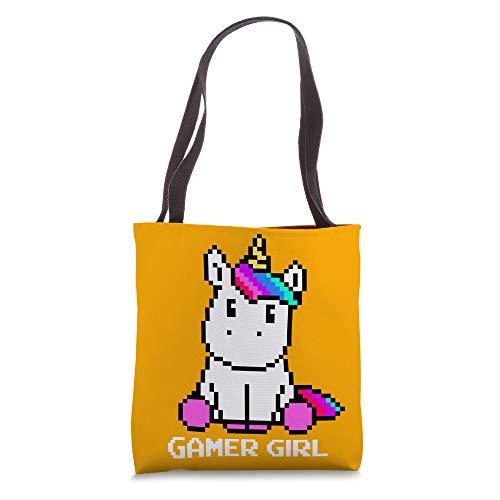 Cute Unicorn Video Games Character Gamer Girl Gift Orange Tote Bag