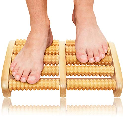 Gifts Dual Foot Massager Roller - Unique Gifts for Men, Women, Mom, Dad, Teacher - Original Shiatsu Massage for Foot, Leg, Back - Relax & Relieve Foot Pain, Plantar Fasciitis, Stress Relief