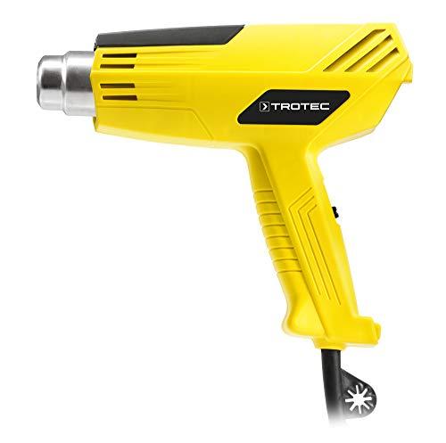 TROTEC Heißluftgebläse / Heißluftpistole HyStream 200 (2.000 Watt) bis max. 550 °C mit vielseitig einsetzbarem Vorsatzdüsen-Set