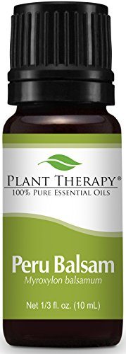 Plant Therapy Peru Balsam Essential Oil 10 mL (1/3 oz) 100% Pure, Undiluted, Therapeutic Grade