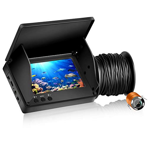 MASALING Fishfinder subacqueo 1000TVL Pixel HD Fotocamera da Pesca con luci a infrarossi per la Pesca sul Ghiaccio Pesca in Mare Pesca in Barca