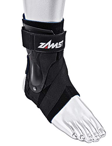 Zamst Ankle Brace Support Stabilizer: A2-DX Mens & Womens Sports Brace for Basketball, Soccer, Volleyball, Football & Baseball ,Black,Left,Medium