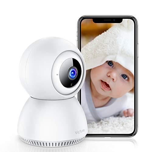 Victure 1080P Telecamera Wifi con Rilevamento del Suono FHD Telecamera di Sorveglianza Interna con Visione Notturna, Monitoraggio del Movimento