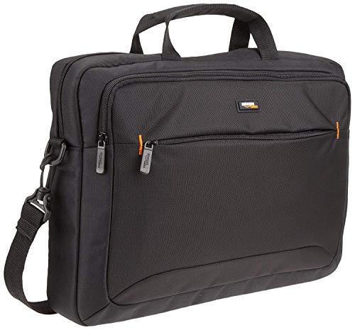 AmazonBasics laptop/documententas | Voor laptop/tablet | Ruimte voor al je documenten | Inclusief gevoerde schouderriem