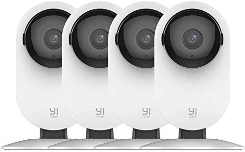 YI Videocamera di sorveglianza WLAN IP con sensore di movimento, visione notturna, 2 Way Audio per Telefono cellulare/PC, Home Camera Monitor per Home Security/Baby/Pet Local/YI Cloud (set da 4)