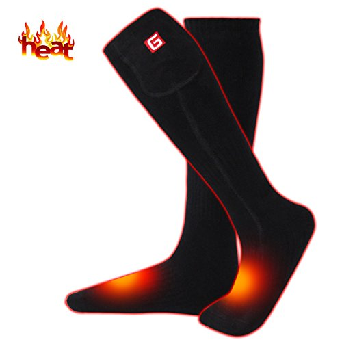 MMlove Men's Heated Hiking Socks