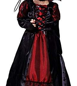 Cloudkids Disfraz de Reina Vampiresa -Disfraz de Vampiro Niña - Twilight - Vestido y Accesorios para Niñas Chicas para…