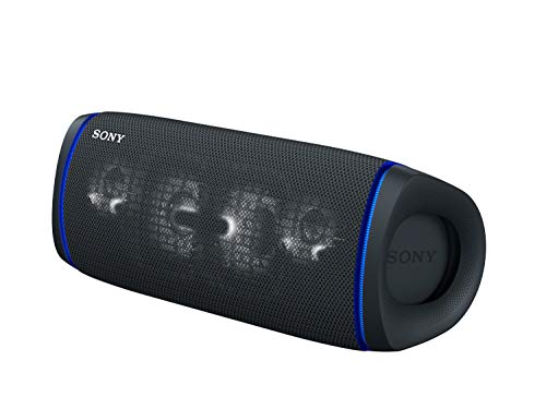 Sony SRS-XB43 Wireless Extra Bass Bluetooth Speaker with 24 hrs Battery, Party Lights, Party Connect, Waterproof IPX67, Dustproof, Rustproof, Speaker with Mic, Loud Audio for Phone Calls/WFH (Black)