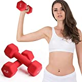 FutureCharger 8LB Dumbbell Weights, Set of 2 Neoprene Dumbbell Barbell Hand Weights, Fitness Exercises Dumbbell for Beginner/Women/Men Strength Building, Muscle Toning, Body Sculpting,Home Gym Workout