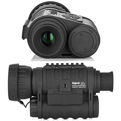 Bestguarder - Telecamera monoculare digitale per visione notturna, 6 x 50 mm, per riprese video da 5 MP, 720p fino a 350 m, distanza di rilevamento con LCD TFT da 1,5 pollici