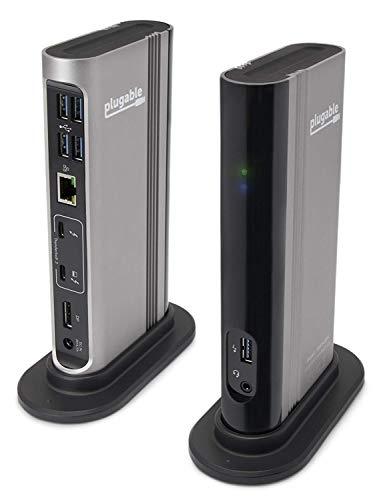 Plugable Thunderbolt 3 ドッキングステーション 60W 充電機能付き MacBook Pro iMac MacBook Air 2020 お...