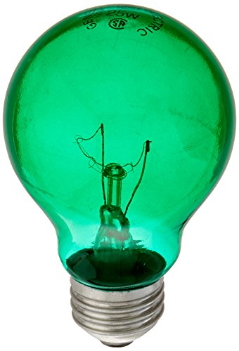 GE Lighting 16553 25-Watt Party Light Bulb, Green