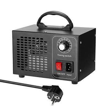 Generador de Ozono Hogar 32,000mg/H,Máquina de Ozono Portátil con Interruptor de Temporización,Profesional Desinfectador de Ozono Para Coche,Casero y Eliminación de Formaldehído.