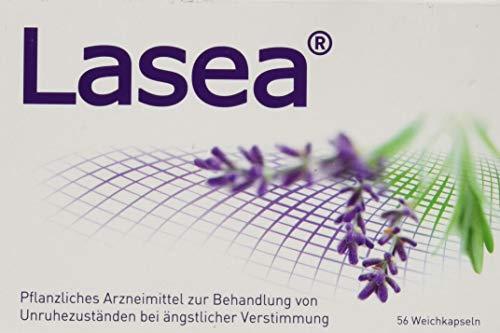 Lasea gegen innere Unruhe und daraus resultierende Schlafstörungen – Pflanzliches Arzneimittel mit speziellem Lavendelöl – 56 Kapseln
