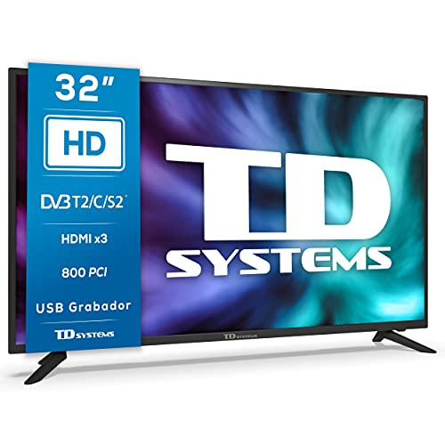 TD Systems K32DLG12H - Televisores 32 Pulgadas HD, 800 PCI Hz, 3X...